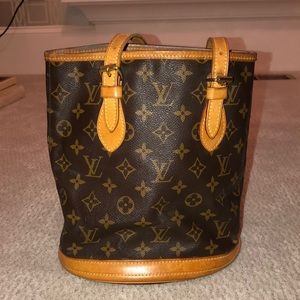Louis Vuitton Monogrammed Bucket Shoulder Bag